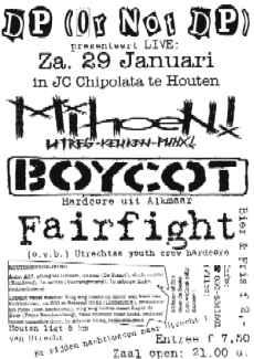 Flyer concert Mihoen!/Boycot/Fairfight